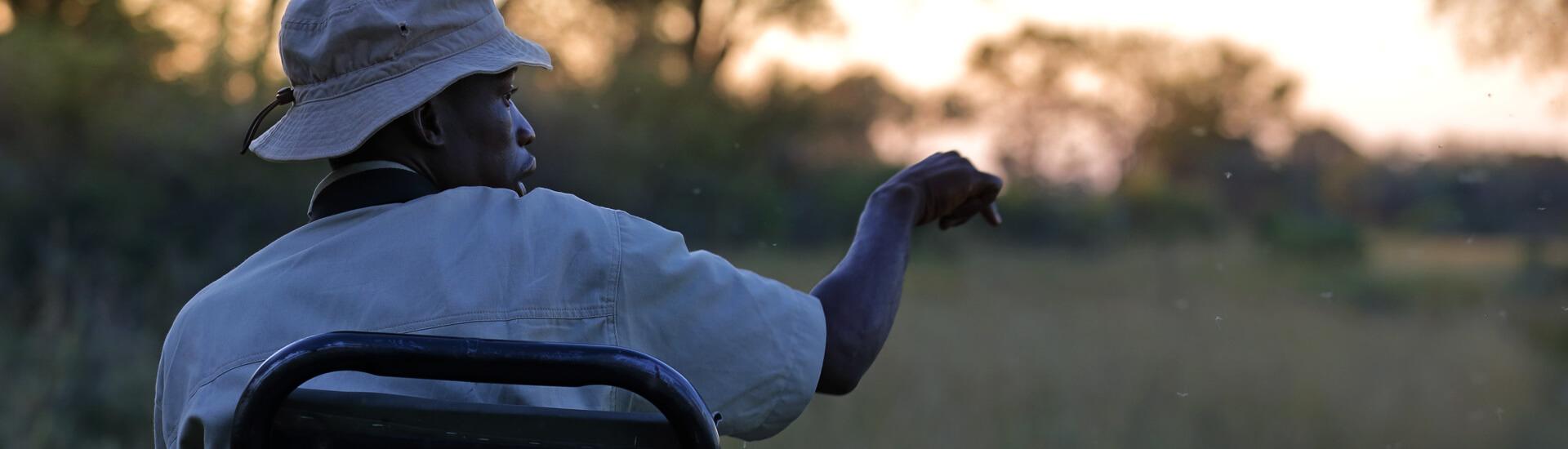Botswana Reisen oftmals mit Tracker.