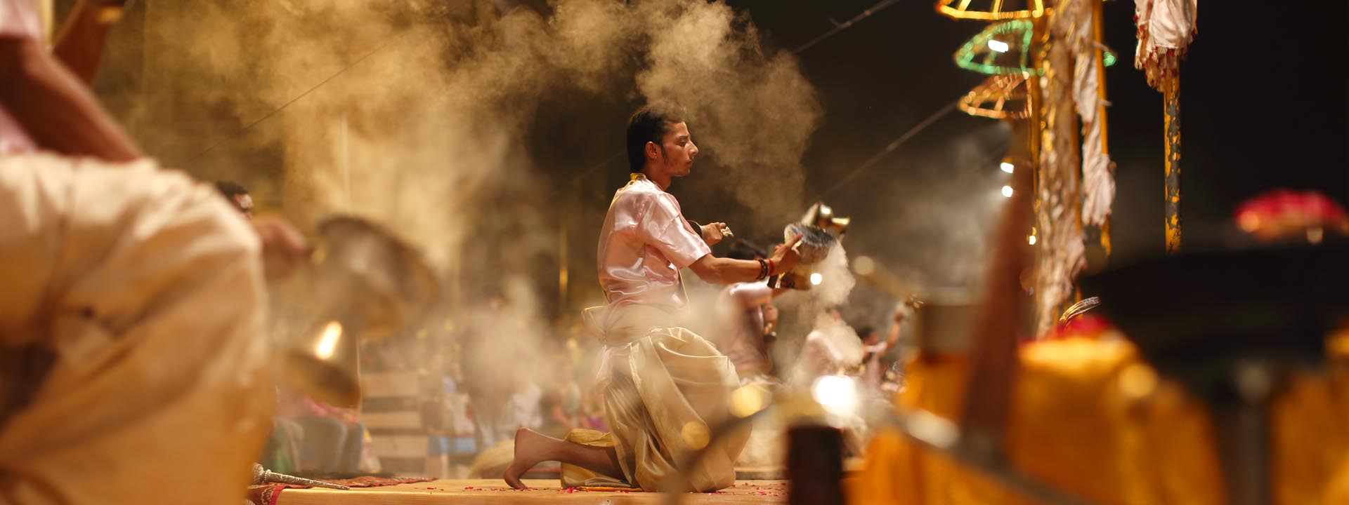 Varanasi Zeremonie
