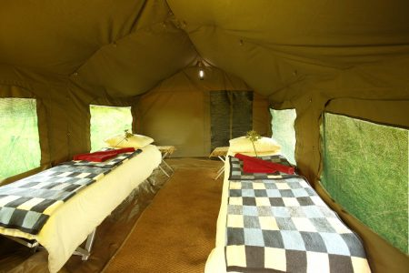 Die Zelte bieten jeglichen Komfort.