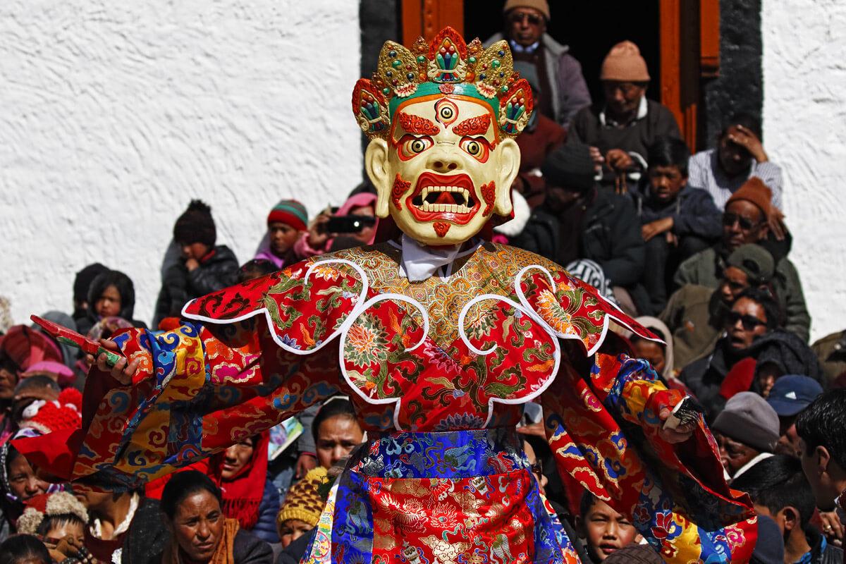 Klosterfestival in Stok Guru Tsechu - das Festival ist bekannt durch die Maskentänze, die von den Priestern des berühmten Spituk Klosters in Ladakh aufgeführt werden.