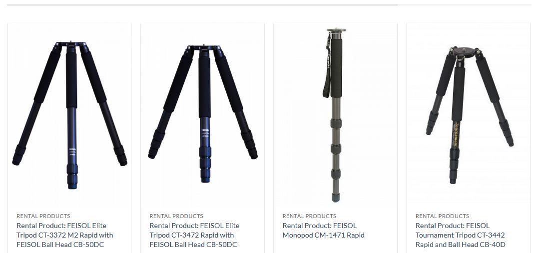 Unser Angebot an unsere Kunden - Stative von Feisol zum Testen auf unseren Reisen.