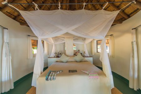 Das Nsefu Camp hat 6 Cottages entlang des Luangwa Flusses.
